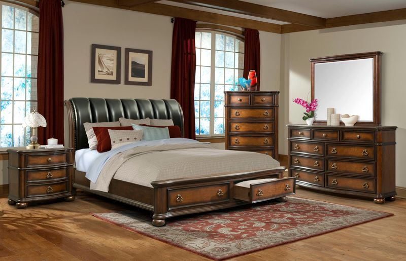 Palmer Bedroom Set with Storage Bed