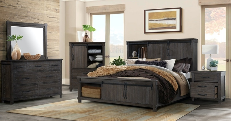 Scott Dark Bedroom Set