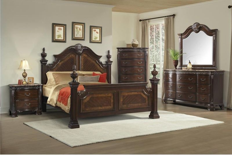 Southern Belle Bedroom Set with Poster Bed