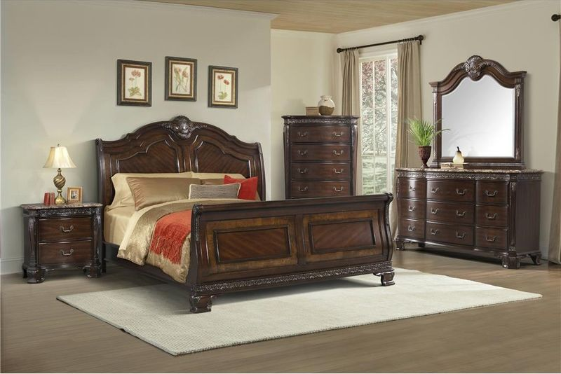 Southern Belle Bedroom Set with Sleigh Bed