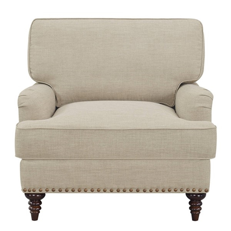 Abby Living Room Set in Natural Linen