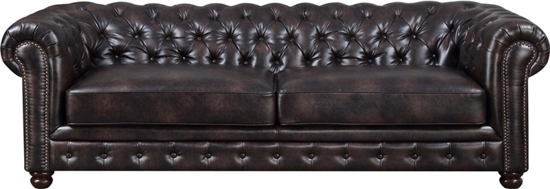 Florence Living Room Set in Dark Brown