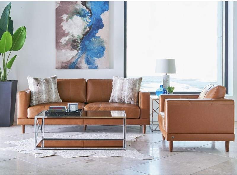 Hampton Living Room Set in Tan