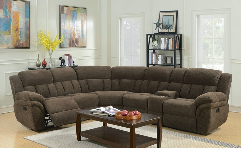 Santorini Sectional in Brown