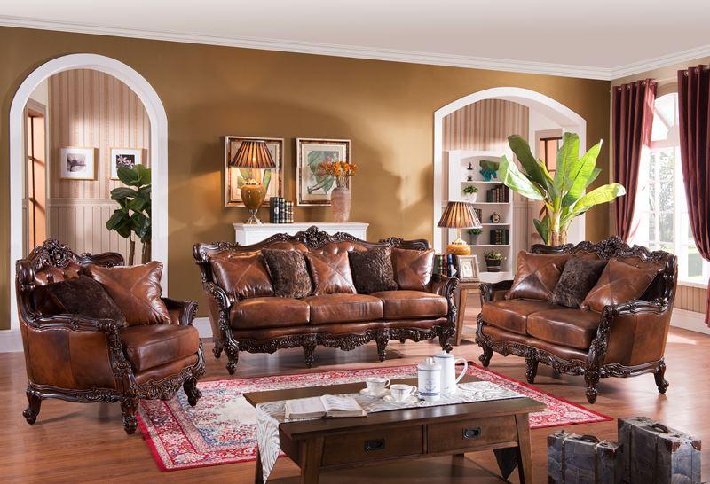 Pennington formal leather living room set for Formal leather living room furniture
