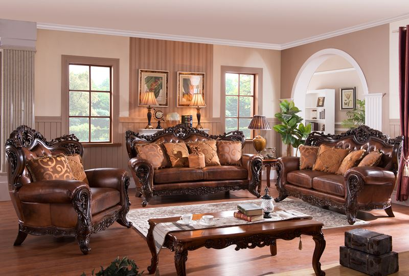 carnegie leather formal living room set