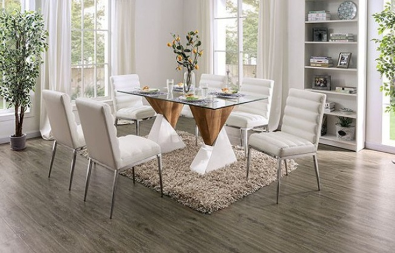 Binjai Dining Room Set in White