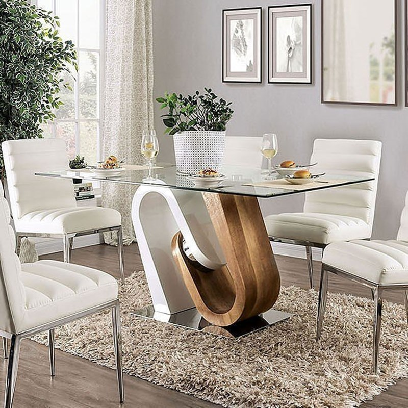 Cilegon Dining Room Set in White