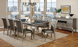 Amina Formal Dining Room Set in Champagne