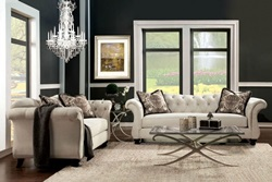 Antoinette Living Room Set in Beige