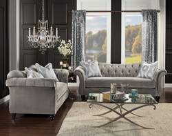 Antoinette Living Room Set in Gray