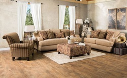 Arklow Living Room Set in Tan