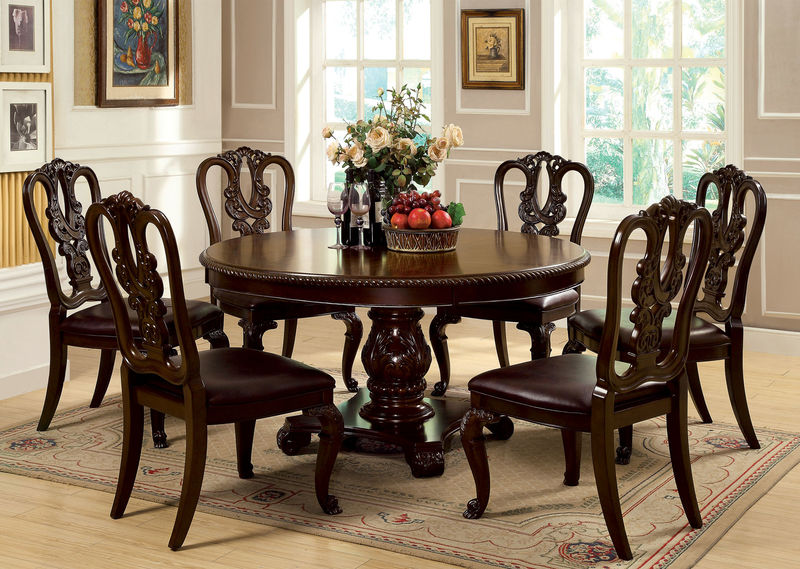 Dallas designer furniture bellagio formal dining room for Fancy round dining table