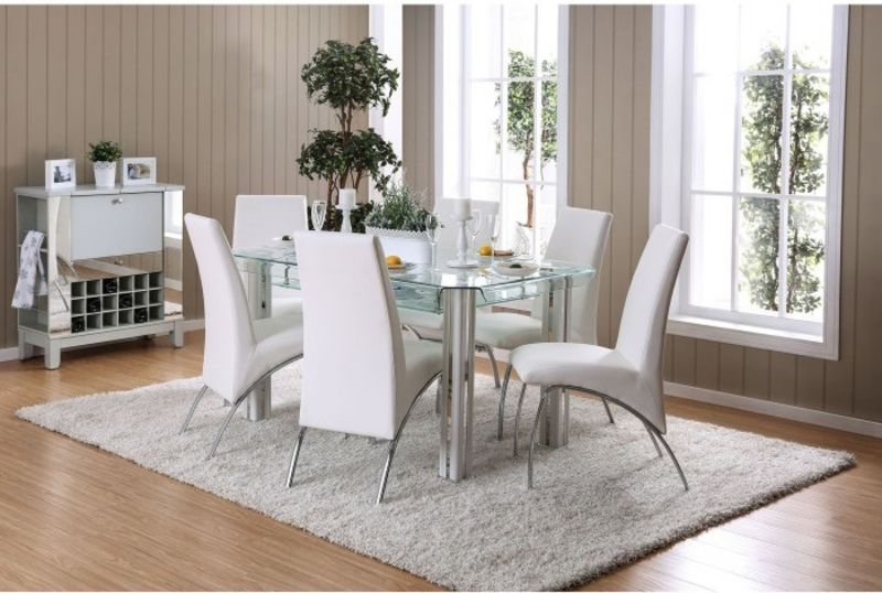 Berthold Dining Room Set in White