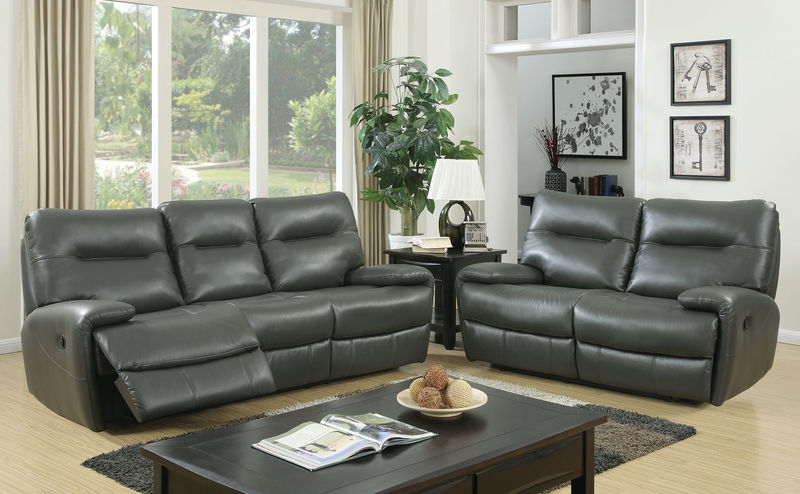 Binford Reclining Living Room Set in Gray