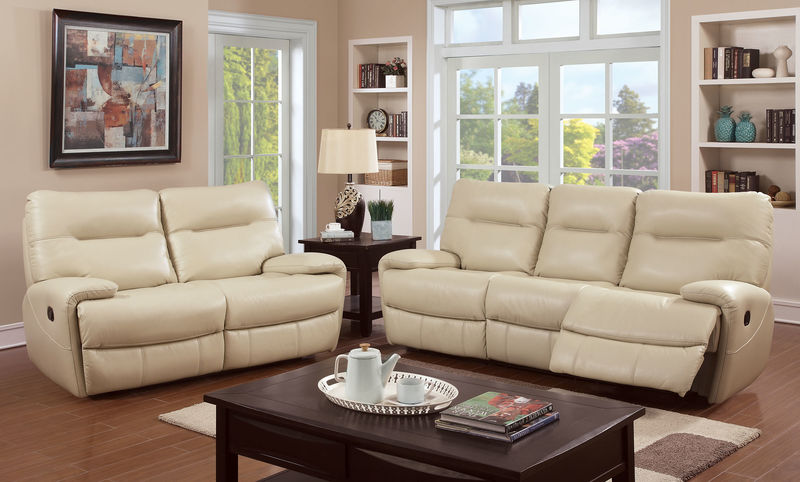 Binford Reclining Living Room Set in Ivory