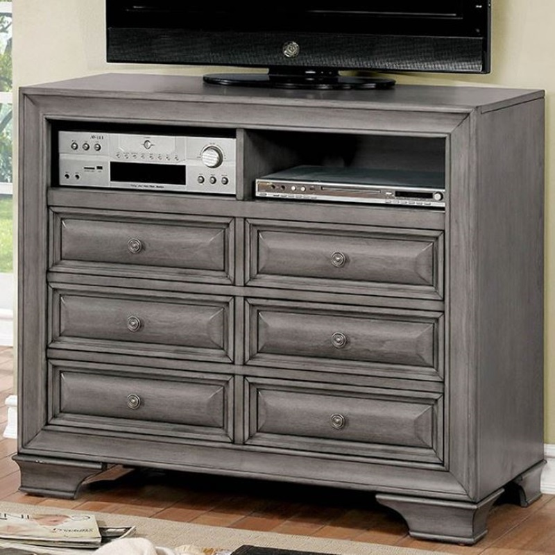 Brandt Bedroom Set in Gray with Storage Drawers