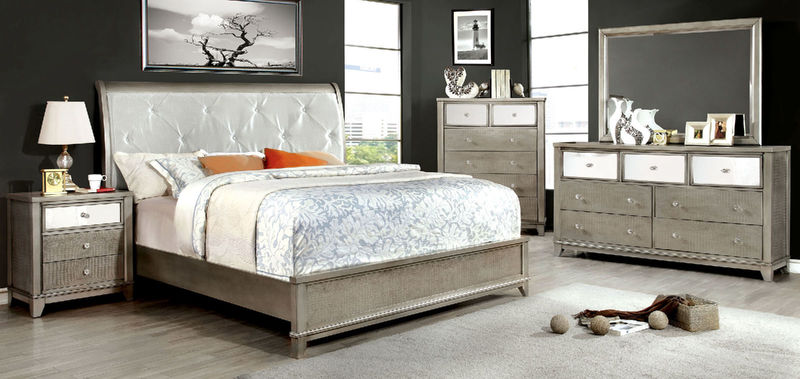 Bryant Bedroom Set in Silver