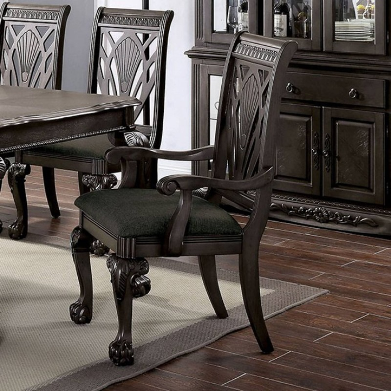 Petersburg Formal Dining Room Set in Dark Gray