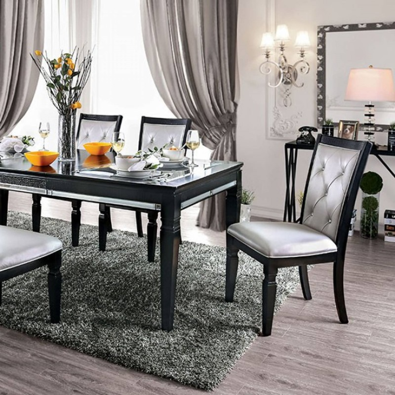 Alena Formal Dining Room Set in Black
