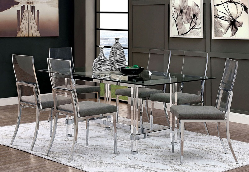 Casper Dining Room Set in Chrome