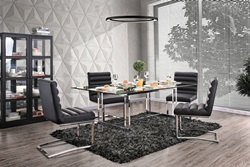 Sunniva Dining Room Set with Black Chairs