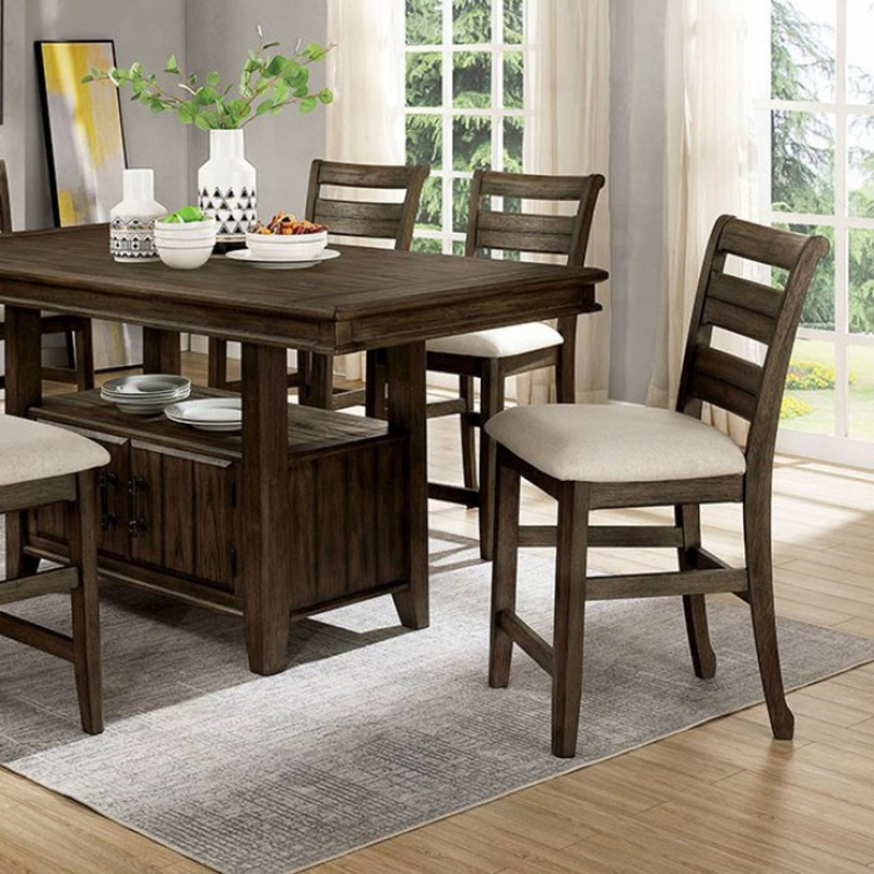 Rigby Counter Height Dining Room Set in Light Walnut