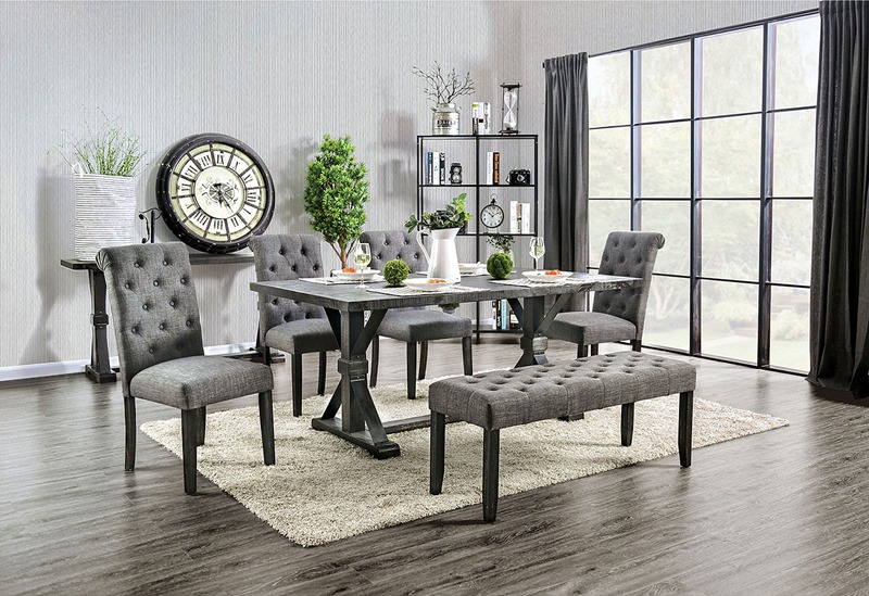 Alfred Dining Room Set in Gray