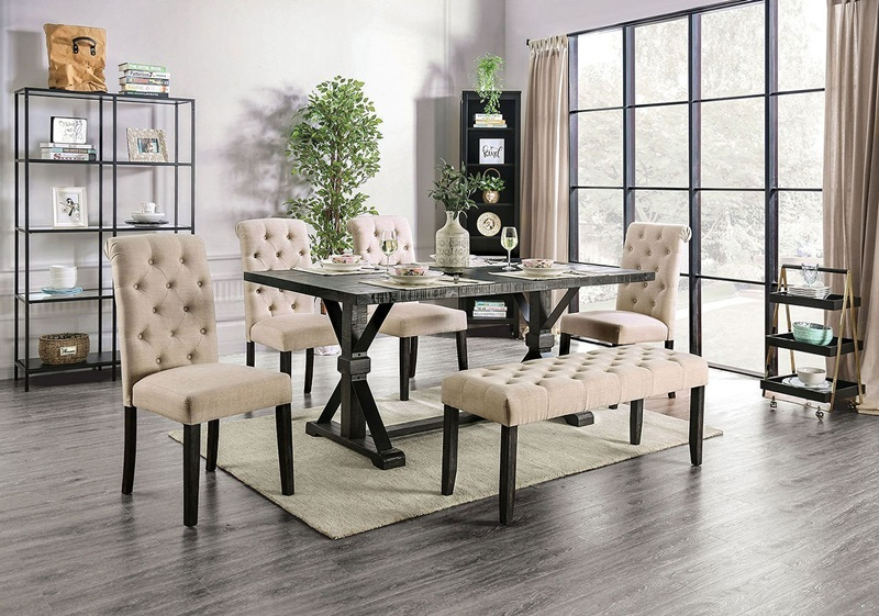 Alfred Dining Room Set in Ivory