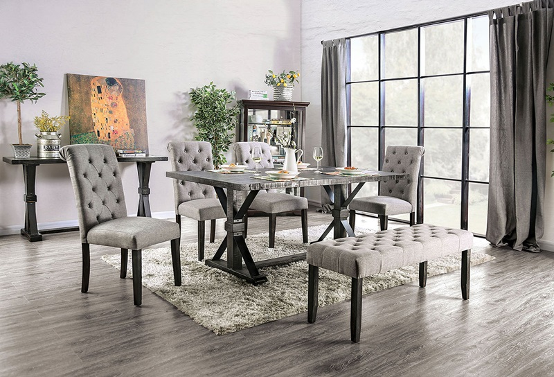Alfred Dining Room Set in Light Gray
