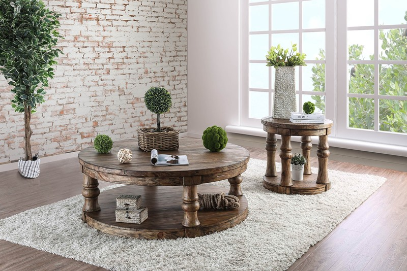 Mika Coffee Table Set in Antique Oak
