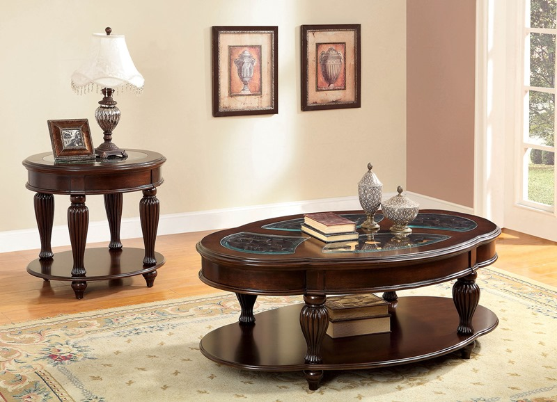 Furniture of america cm4642 centinel coffee table set for Furniture of america dallas texas