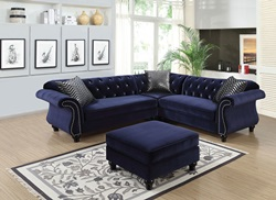 Jolanda Sectional Sofa in Blue