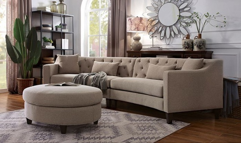 Sarin Sectional Sofa in Taupe