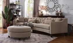 Sarin Sectional in Taupe
