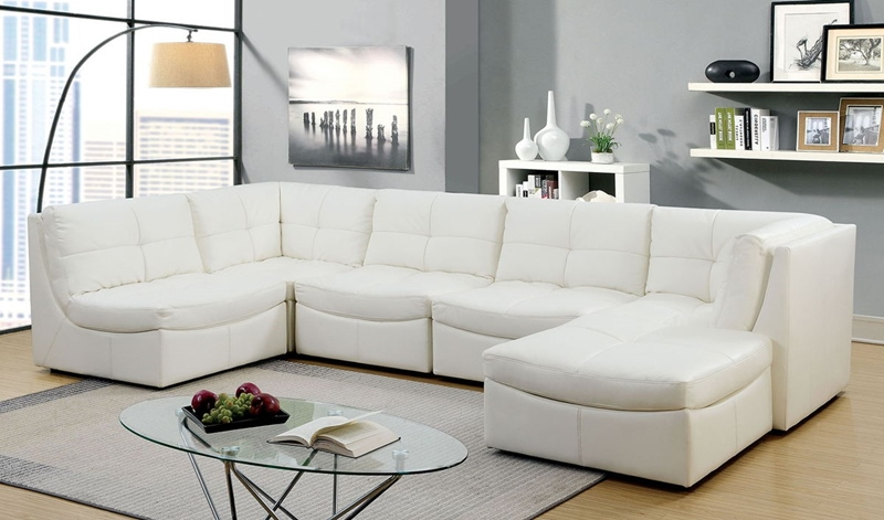 Libbie Sectional Sofa in White