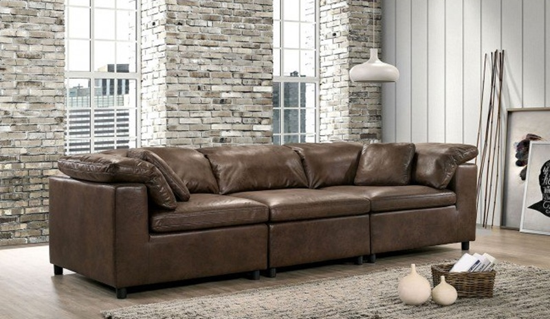 Tamera Living Room Set in Brown