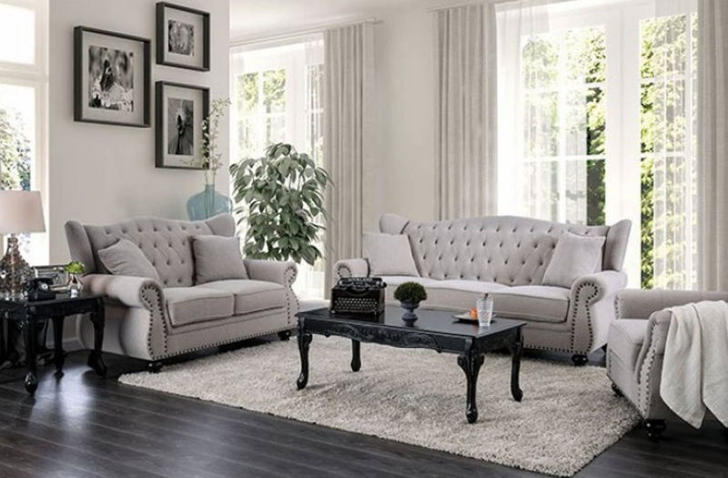 Ewloe Living Room Set in Light Gray