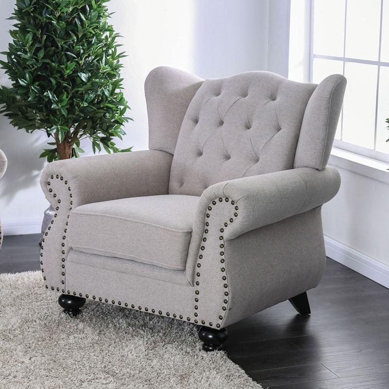 Ewloe Living Room Set in Light Gray