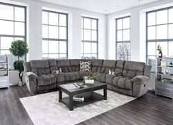 Irene Reclining Sectional in Gray