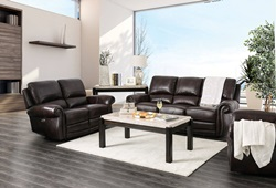 Edmore Reclining Leather Living Room Set with Power Motion