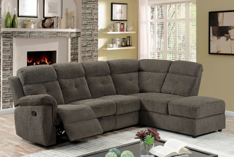Avia Sectional Sofa in Gray