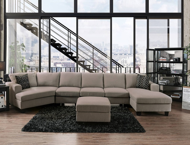 Traci Sectional Sofa in Light Gray