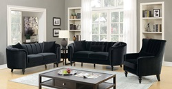 Linnea Living Room Set in Black