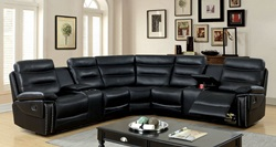 Cavan Reclining Sectional in Black