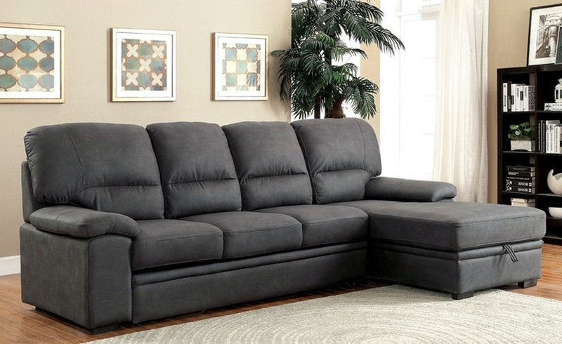 Alcester Sectional Sofa with Sleeper in Graphite