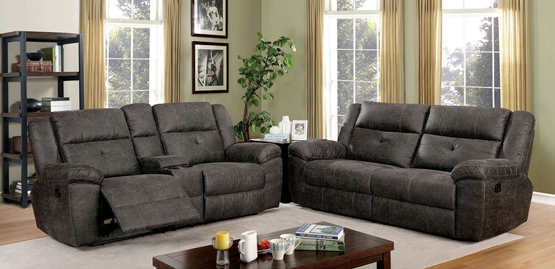 Chichester Reclining Living Room Set in Dark Gray