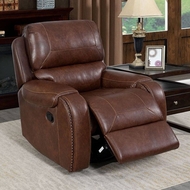 Walter Power Reclining Living Room Set in Brown