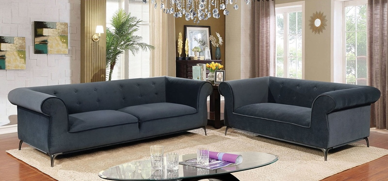 Gresford Living Room Set in Gray