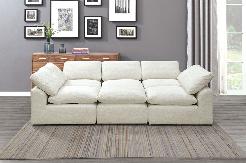 Joel Sleeper Sofa in Cream